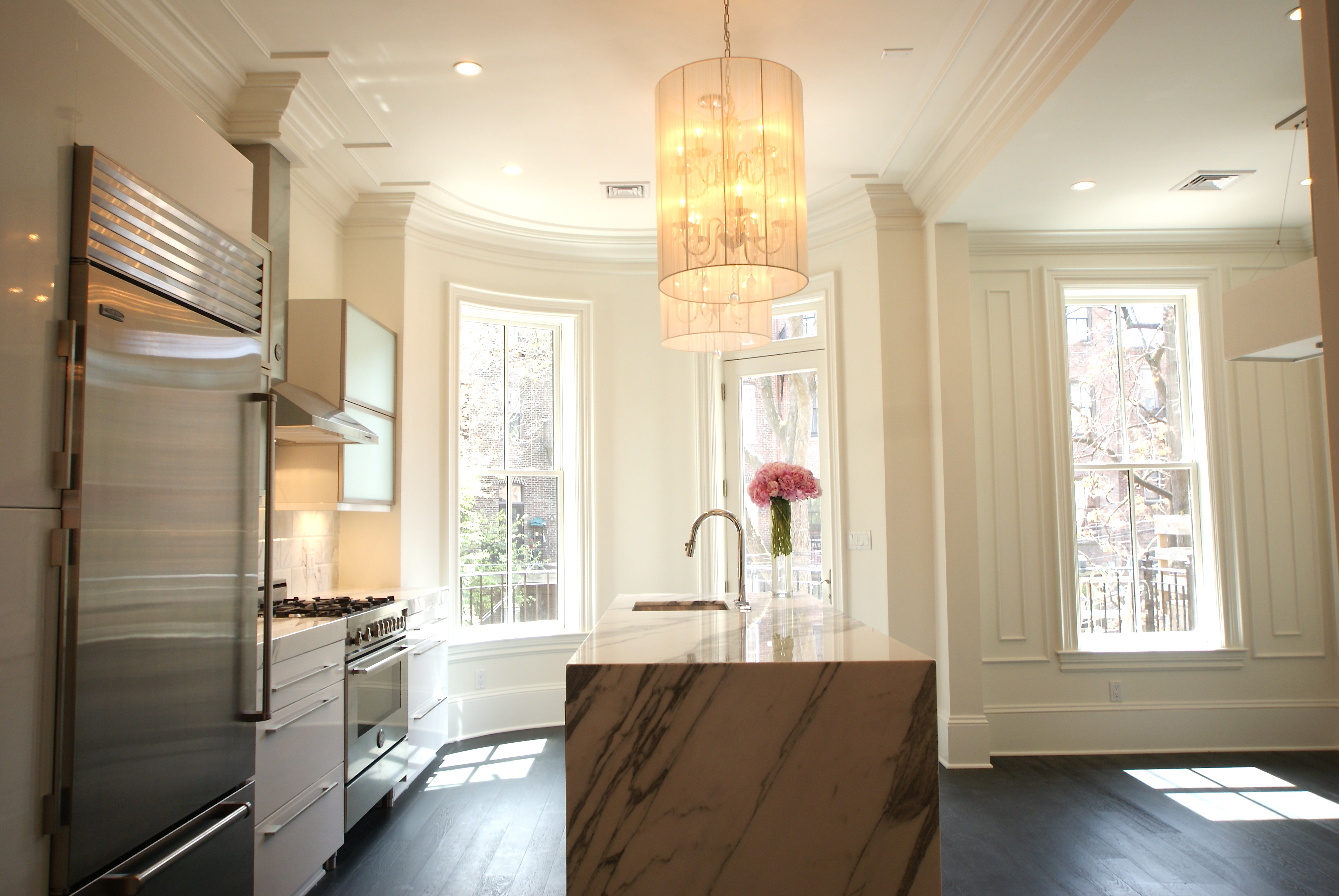 Brownstone renovation claremont park boston Modern victorian interior decorating